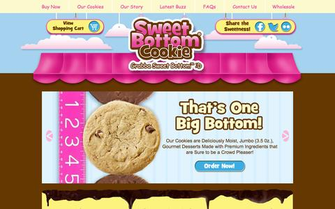 Screenshot of Home Page sweetbottomcookies.com - Home | Sweet Bottom Cookies - captured Oct. 9, 2014