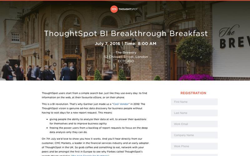 ThoughtSpot BI Breakthrough Breakfast   ThoughtSpot