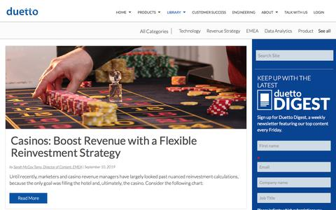 Screenshot of Case Studies Page duettocloud.com - Revenue Strategy Blogs | Hotel Industry News - Duetto Blog - captured Jan. 6, 2020