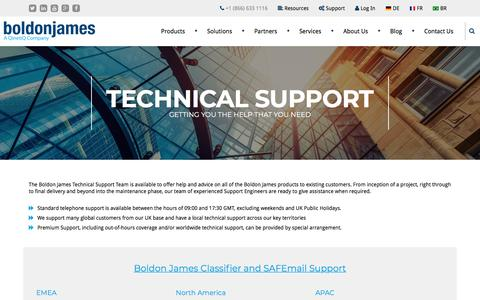 Technical Support | Boldon James