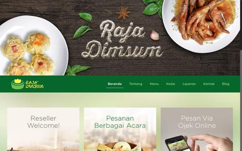 Screenshot of Home Page rajadimsum.com - Raja Dimsum – Sekali mencoba, selalu ingin nambah! - captured Nov. 12, 2017