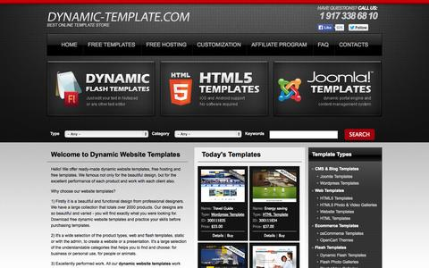 Screenshot of Home Page dynamic-template.com - Dynamic Website Templates, Download Free Dynamic Templates - captured Sept. 22, 2014
