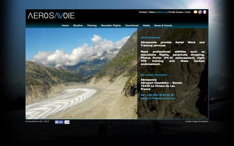 Screenshot of About Page aerosavoie.com - AeroSavoie - Flying school for pilots Chambery Alps France - Aero Savoie - captured Oct. 4, 2014