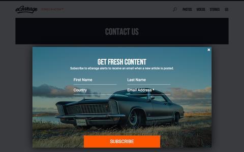 Screenshot of Contact Page egarage.com - Contact Us - captured Oct. 1, 2015