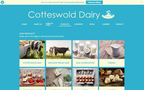 Screenshot of Products Page cotteswold-dairy.co.uk - Product - captured Nov. 11, 2018