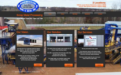 Screenshot of Home Page rochesteriron.com - Rochester Iron and Metal Inc. - captured Oct. 9, 2014
