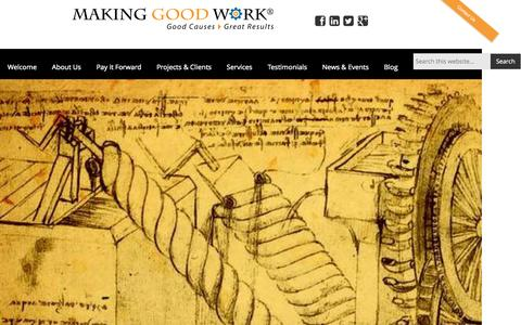 Screenshot of About Page makinggoodwork.org - Lisa Lunghofer, Ph.D. - Making Good Work - captured Aug. 2, 2015