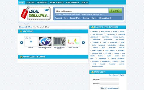 Screenshot of Home Page freelocaldiscounts.in - Local Discounts, Free Discounts, Discount Coupons, Shopping Coupons | Hyderabad's FIRST Discount Bazaar - captured March 30, 2016