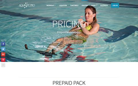 Screenshot of Pricing Page aquafitproltd.co.uk - Pricing | Aqua Fit Pro - captured Feb. 6, 2016