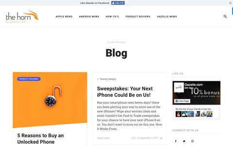Gazelle The Horn - Gazelle's Blog
