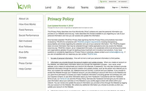Privacy Policy | Kiva