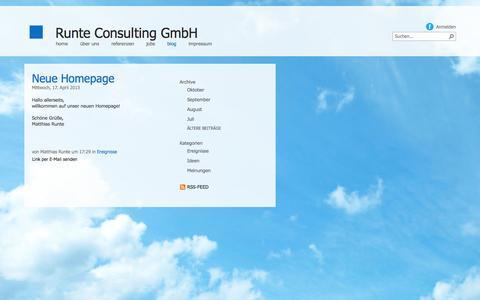 Screenshot of Blog runte-consulting.com - Blog - captured Oct. 6, 2014