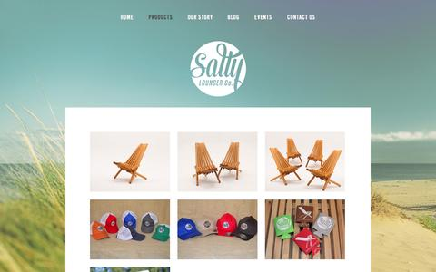 Screenshot of Products Page saltylounger.com - Products — The Salty Lounger - captured Sept. 30, 2014