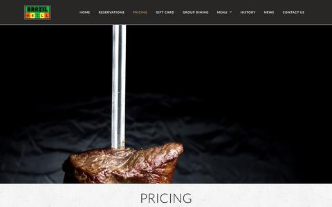 Screenshot of Pricing Page brazilgrillrestaurant.com - Pricing | Brazil Grill - captured Sept. 27, 2018