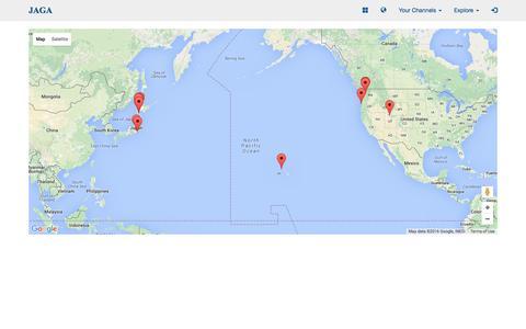 Screenshot of Maps & Directions Page jaga.io - Social Sharing and Networking Platform | JAGA - captured March 9, 2016
