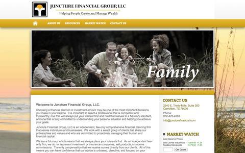 Screenshot of Home Page juncturefinancial.com - Juncture Financial Group, LLC - captured Oct. 6, 2014