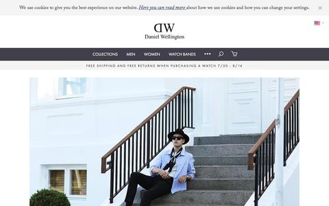 Screenshot of Press Page danielwellington.com - Journal - captured July 31, 2016