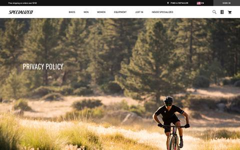 Privacy Policy | Specialized.com