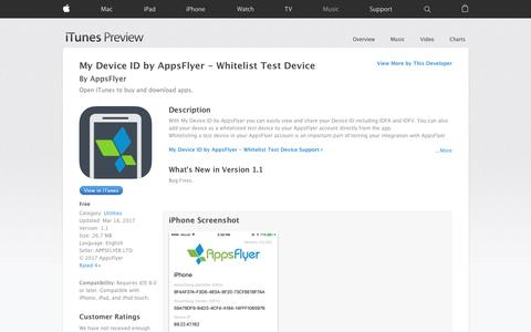 My Device ID by AppsFlyer - Whitelist Test Device on the App Store