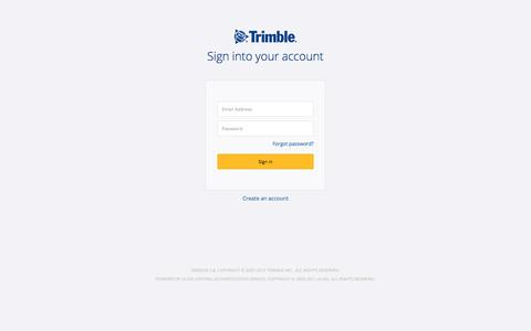 Screenshot of Login Page trimble.com - Trimble Inc. Central Authentication Service - captured Sept. 23, 2019