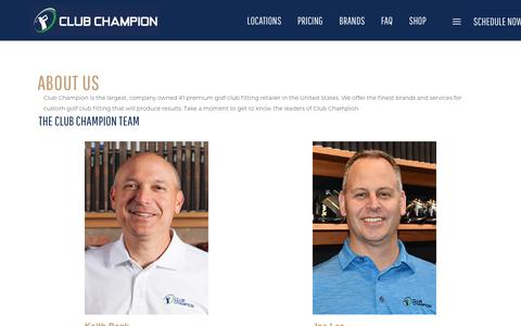 Screenshot of About Page clubchampiongolf.com - About | Club Champion is the #1 premium golf club fitter - captured Dec. 14, 2018