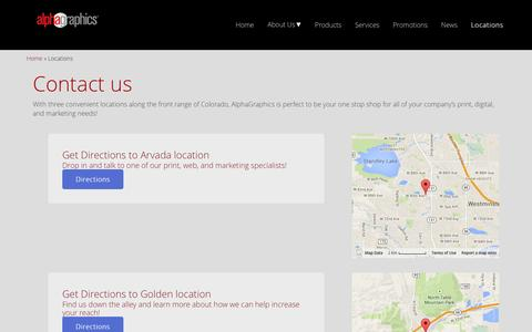Screenshot of Locations Page alphagraphics5280.com - Store Locations - AlphaGraphics5280 : AlphaGraphics 5280 - captured Nov. 2, 2014