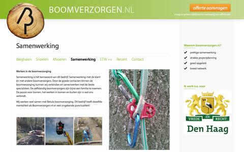 Screenshot of Team Page boomverzorgen.nl - Samenwerking : Boomverzorgen.nl - captured Nov. 23, 2016