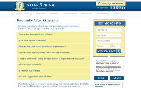 Screenshot of FAQ Page allenschool.edu - FAQs - Allen School - captured Oct. 4, 2014