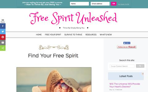 Screenshot of Home Page freespiritunleashed.com - Thrive As A Free Spirit Without Hiding Who You Are - captured June 25, 2017