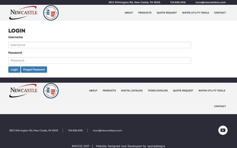 Screenshot of Login Page newcastleco.com - Members - NCCO - captured Oct. 21, 2017