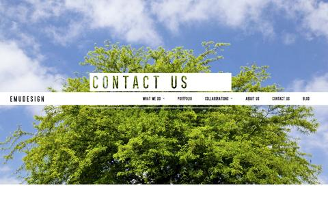 Screenshot of Contact Page emudesign.it - CONTACT US - EmuDesign StudioEmuDesign Studio - captured Dec. 9, 2015