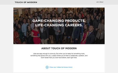 touch of modern jobs