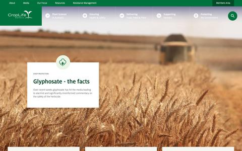 Screenshot of Home Page croplife.org.au - CropLife Australia - captured Oct. 21, 2018