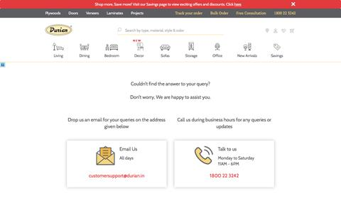 Screenshot of Contact Page durian.in - Contact   Durian - captured Sept. 24, 2018