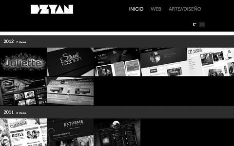 Screenshot of Home Page dzyan.com.mx - Dzyan - captured Sept. 30, 2014