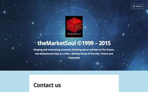 Screenshot of Contact Page themarketsoul.com - Contact us – theMarketSoul ©1999 – 2015 - captured Feb. 16, 2016