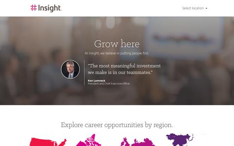 Screenshot of Jobs Page insight.com - Insight Careers & Job Search | Jobs at Insight | Insight - captured May 1, 2019