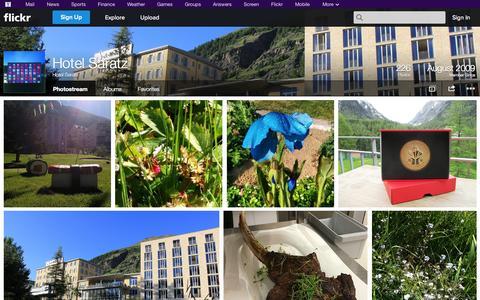 Screenshot of Flickr Page flickr.com - Flickr: Hotel Saratz's Photostream - captured Oct. 23, 2014