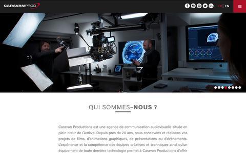 Screenshot of About Page Team Page caravan-prod.ch - Société – Caravan Prod - captured Sept. 26, 2018