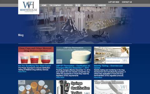 Screenshot of Blog whitehouselabs.com captured Oct. 26, 2014