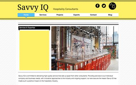 Screenshot of Home Page savvyiq.com - Savvy IQ | Hospitality Consultants - captured Feb. 4, 2016