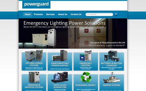 Screenshot of Home Page powerguard.co.uk - Off Grid Electric | UPS Systems | Uninterruptible Power Supplies | CHP - captured July 21, 2018