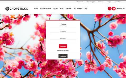 Screenshot of Login Page chopstickx.nl - Chopstickx.nl -  Klant-login Chopsticks - captured Sept. 29, 2014