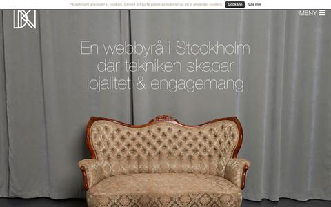 Screenshot of Home Page daknight.se - Webbyrå Stockholm digitala strategier - daKnight Productions - captured Sept. 13, 2015