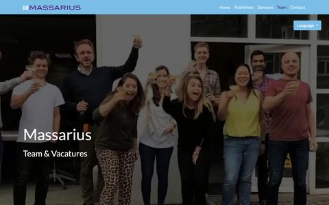 Screenshot of Team Page massarius.com - Team - Massarius - captured Oct. 1, 2018