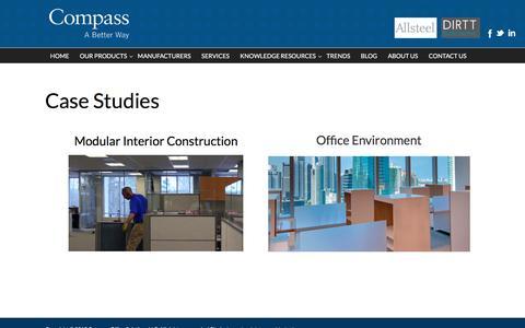 Screenshot of Case Studies Page compass-office.com - Case Studies   Compass Office Solutions - captured Jan. 30, 2016