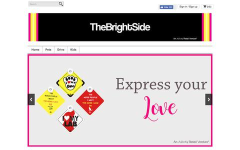 Screenshot of Home Page thebrightside.in - The Bright Side  | Fun Signs - Car Signs, Door Signs, etc - captured June 16, 2017