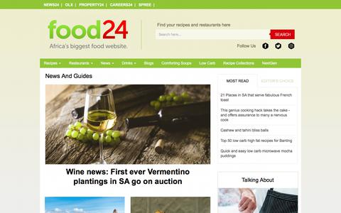 Screenshot of Press Page food24.com - Food News - Cooking Guides - Ingredients - Directories | Food24.com - captured June 21, 2017