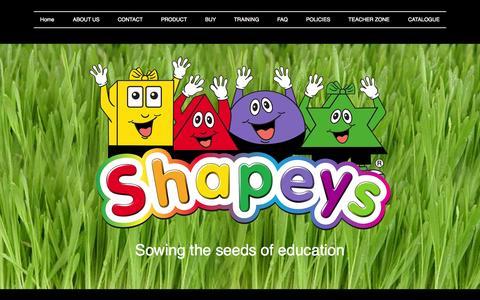 Screenshot of Home Page shapeys.com - Shapeys - captured Jan. 26, 2015