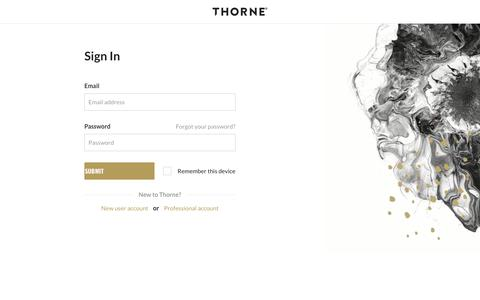 Sign In | Thorne